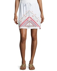 Jwla Geometric Embroidered Drawstring Skirt White