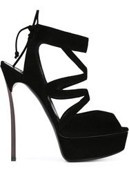 Casadei Platform Stiletto Sandals Black