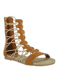 Mia Gladiator Sandals Luggage
