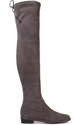 Stuart Weitzman Lowland Suede Over The Knee Boots Gray