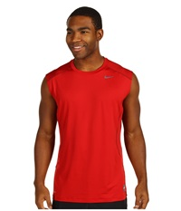 Nike Pro Combat Core Fitted S L Shirt Varsity Red Grey Men's Sleeveless