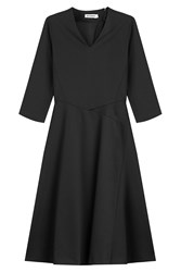 Jil Sander Patchwork Panel Swing Dress Black