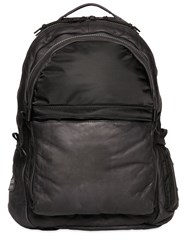 Allsaints Shoto Waxed Leather And Nylon Backpack