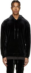 Diet Butcher Slim Skin Black Velour Hoodie