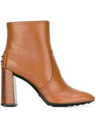 Tod's 'Hill' Boots Nude And Neutrals