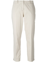 Blumarine Cropped Tailored Trousers Nude And Neutrals