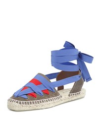Tomas Maier Grosgrain Ribbon Espadrille Dust Blood Klein