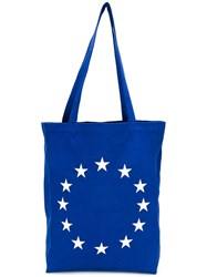 Etudes Embroidered Star Tote Blue