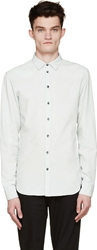 Balmain Mint Chambray Button Up Shirt