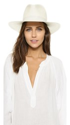 Janessa Leone Aisley Short Brimmed Panama Hat Bleach