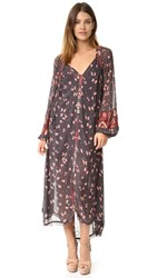 Free People Viceroy Printed Maxi Dress Black Combo