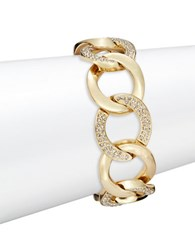 House Of Harlow Crystal Pave Chainlink Bracelet Gold