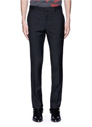 Lanvin Slim Fit Ribbon Stripe Wool Pants Black