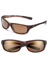 Men's Maui Jim 'Kipahulu Polarizedplus2' 59Mm Sunglasses Matte Tortoise Bronze