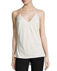 Halston Cami With Strappy Back Black
