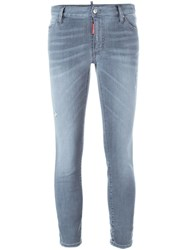 Dsquared2 Cropped Jeans Grey