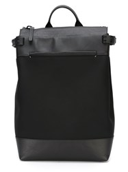 Troubadour Top Zip Rucksack Black