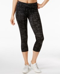Calvin Klein Performance Textured Capri Leggings Cross Snatch Combo
