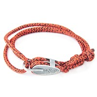 Anchor And Crew Tyne Rope Silver Bracelet