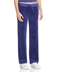 Juicy Couture Sport Black Label Original Flare Velour Pants In Starless Sky Blue 100 Bloomingdale's Exclusive