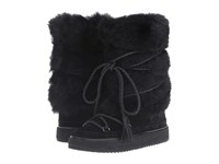 Frye Gail Shearling Tall Black Waterproof Oiled Suede Shearling Women's Pull On Boots