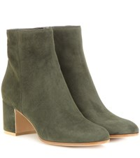 Gianvito Rossi Margaux Suede Ankle Boots Green