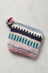 Anthropologie Rona Sweaterknit Pouch Rose