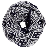 John Lewis Fairisle Snood Navy Cream