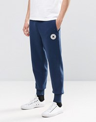 Converse Rib Cuff Patch Joggers In Blue 10002135 A03 Blue