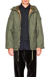 Engineered Garments Double Cloth Field Jacket In Green