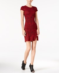 Kensie Space Dyed T Shirt Dress Red Combo