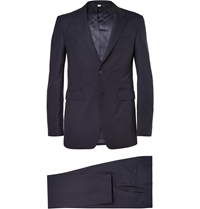 Burberry Navy Slim Fit Wool Suit Blue