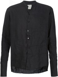 Greg Lauren 'Waterfall Crooked Patchwork Studio' Shirt Black