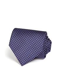 The Men's Store At Bloomingdale's Micro Grid Classic Tie Navy