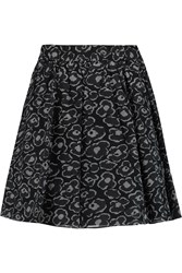 Marc By Marc Jacobs Printed Cotton And Silk Blend Mini Skirt Black