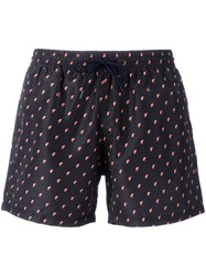 Paul Smith Ps By Printed Swim Shorts Black