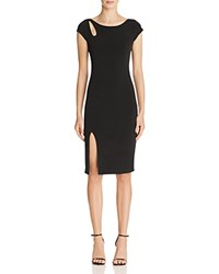 Velvet By Graham And Spencer Slit Stretch Jersey Dress Black