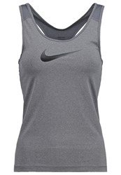Nike Performance Pro Cool Sports Shirt Dark Grey Heather Black Dark Gray