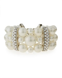 Three Strand Simulated Pearl Bracelet Jose And Maria Barrera