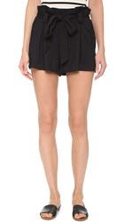 L'agence Alex Paper Bag Shorts Black
