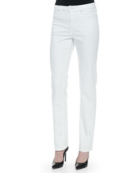 Christopher Blue Madison Straight High Rise Jeans White