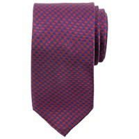 John Lewis Puppytooth Silk Tie Red Navy