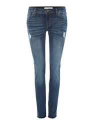 Dl1961 Emma Distressed Power Legging Denim Light Wash