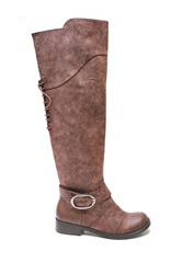 Two Lips Too Jayden Over The Knee Boot Brown
