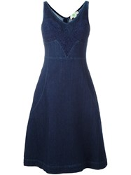 Stella Mccartney Denim Lace Detail Dress Blue