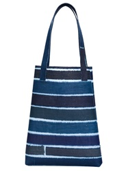 Luisa Cevese Riedizioni Striped Shopper Tote Blue