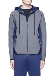 Dyne Colourblock Zip Up Hoodie Grey Multi Colour