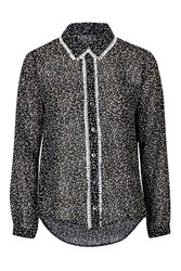 Fringed Spot Blouse By Goldie Black