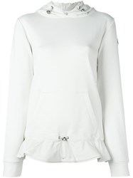 Moncler Layered Hoodie White