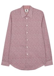 Paul Smith Red Heart Print Cotton Shirt